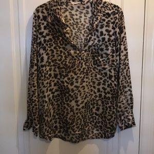 Cheetah oversized blouse great condition small